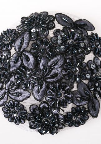 Black and Pewter Beaded-0