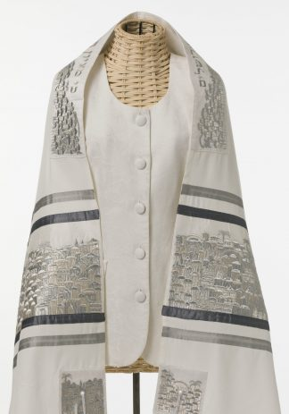 Jamie - Unisex Handmade Brushed Cotton Tallit-0