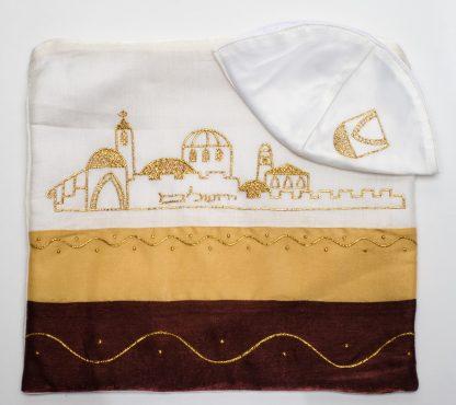 Misha - Unisex Handmade Silk Tallit-3106