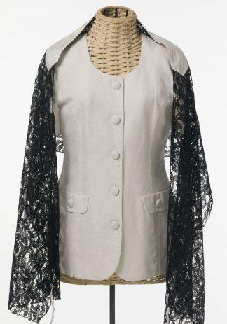 Lena - Women' s Handmade Rayon Blend Lace Tallit-0