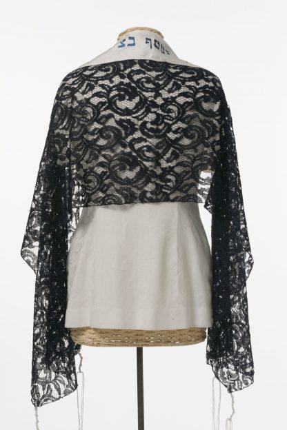 Lena - Women' s Handmade Rayon Blend Lace Tallit-2969