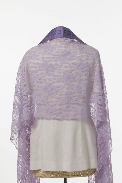 Bella - Women's Handmade Viscose Blend Lace Tallit-2927