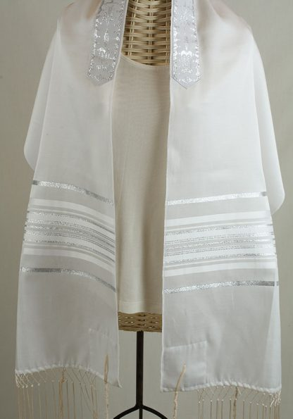 Baily - Unisex Traditional Cotton and Silk Tallit-0