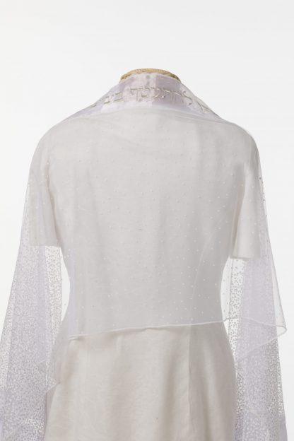Michelle - Women's Handmade Sheer Organza Tallit-3024