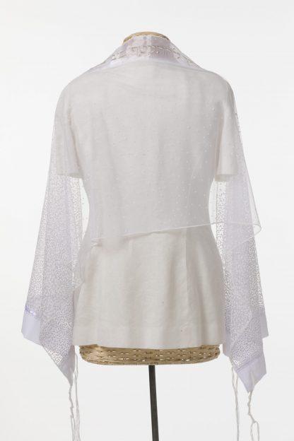 Michelle - Women's Handmade Sheer Organza Tallit-3023