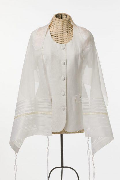 Michelle - Women's Handmade Sheer Organza Tallit-0