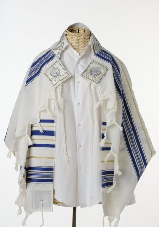 Zaden - Men's Traditional Wool Tallit, Large Size-0