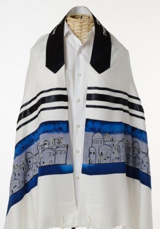 Ezekiel - Unisex Handmade Viscose and Silk Tallit-0