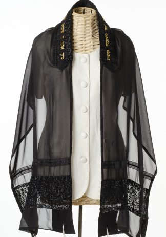 Lucy - Women's Handmade Sheer Silk Tallit-0