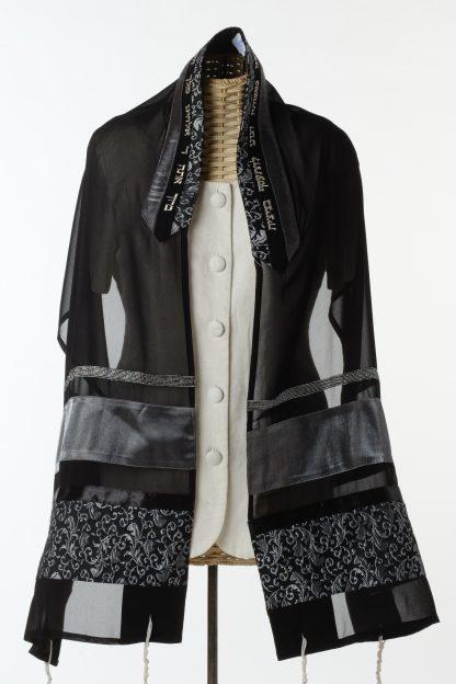 Blair - Women's Handmade Sheer Silk Tallit-0