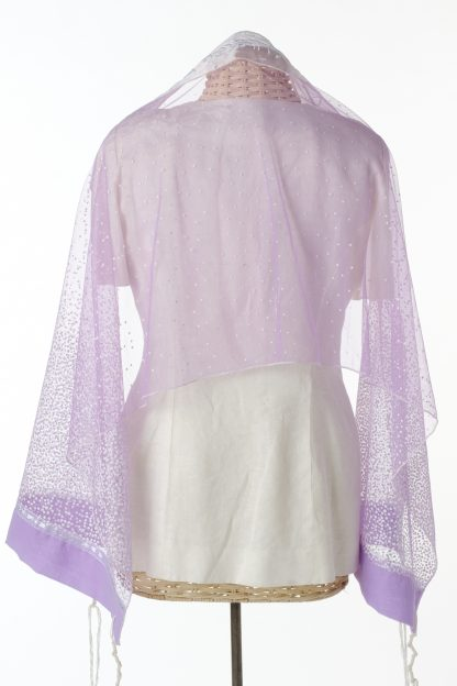 Cora - Women's Handmade Sheer Organza Tallit-3272