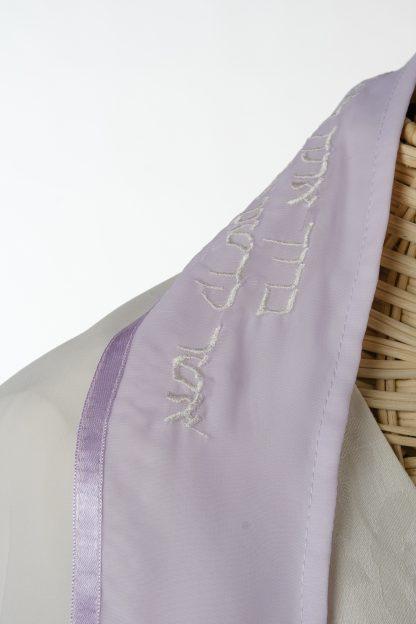 Rachel - Women's Handmade Sheer Organza Tallit-3333