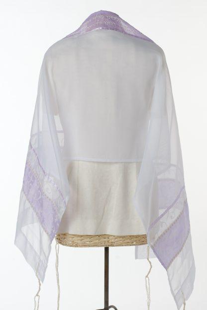 Rachel - Women's Handmade Sheer Organza Tallit-3342