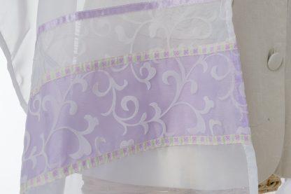Rachel - Women's Handmade Sheer Organza Tallit-3335