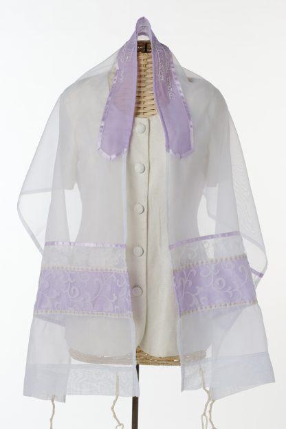 Rachel - Women's Handmade Sheer Organza Tallit-3336