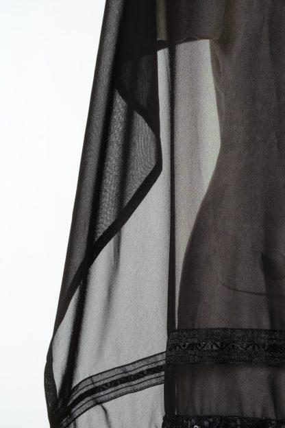 Hazel - Women's Handmade Sheer Silk Tallit-3447