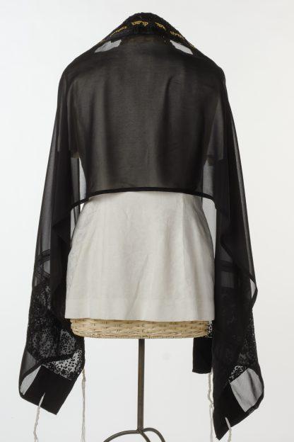 Hazel - Women's Handmade Sheer Silk Tallit-3445