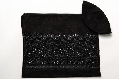 Hazel - Women's Handmade Sheer Silk Tallit-3440