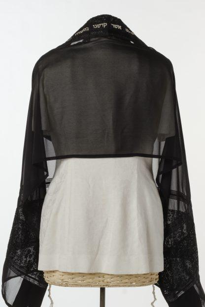 Hazel - Women's Handmade Sheer Silk Tallit-3446