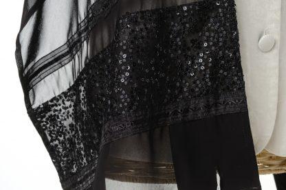 Hazel - Women's Handmade Sheer Silk Tallit-3439