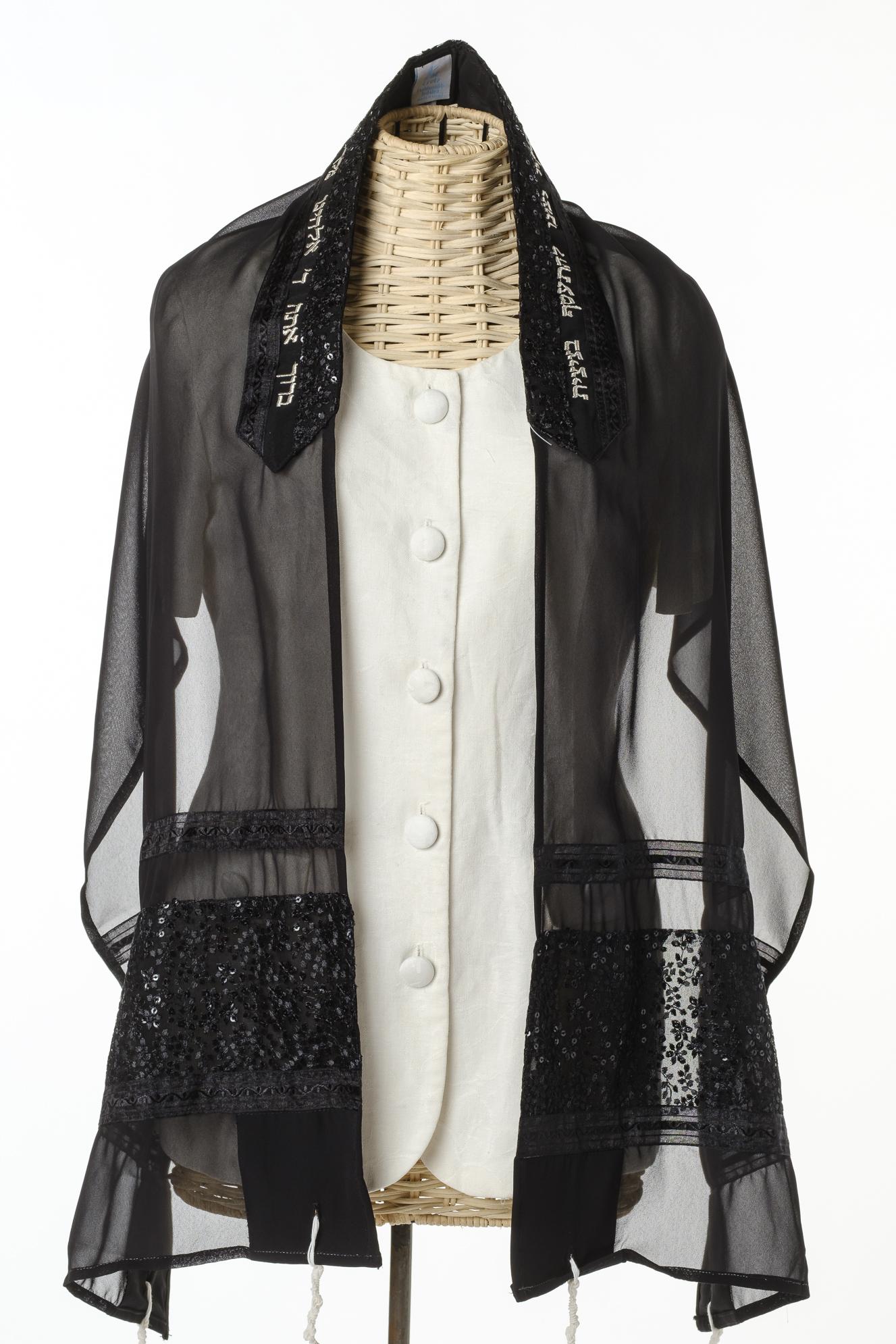 Hazel - Women's Handmade Sheer Silk Tallit-0
