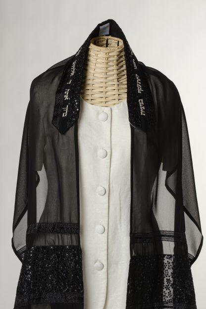 Hazel - Women's Handmade Sheer Silk Tallit-3442