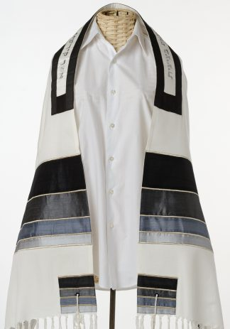 Ryan - Men's Handmade Viscose and Silk Tallit-0