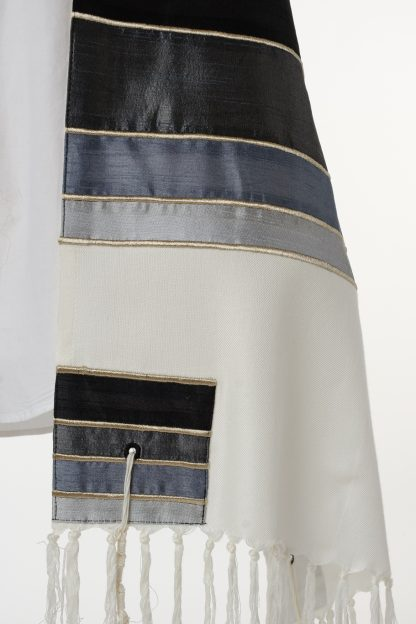 Ryan - Men's Handmade Viscose and Silk Tallit-3477